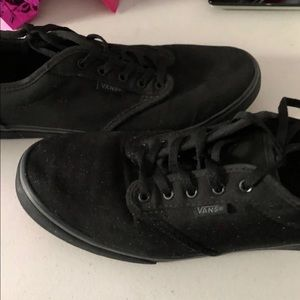 Black on Black on Black VANS Sz8
